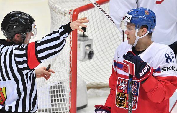 Нападающий сборной Чехии Давид Пастрняк