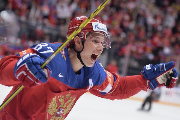 Нападающий сборной России Вадим Шипачёв