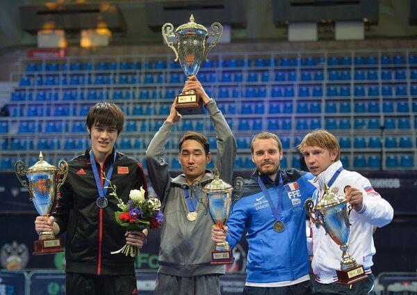 Слева направо: Сюй Инмин (КНР), Ким Чжунхван  (Корея) , Винсен Анстетт (Франция) и Николай Ковалев ( Россия)