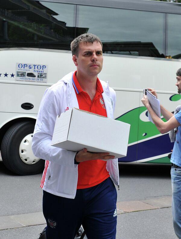 Менеджер сборной России Евгений Савин