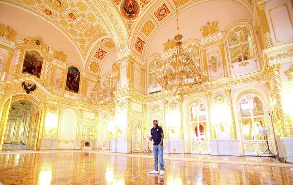Защитник ПБК ЦСКА Аарон Джексон в Большом Кремлевском дворце