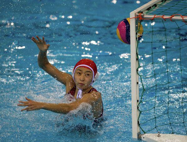 Вратарь женской сборной Китая по водному поло