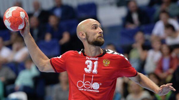 Игрок сборной России по гандболу Тимур Дибиров