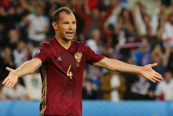 Защитник сборной России Сергей Игнашевич
