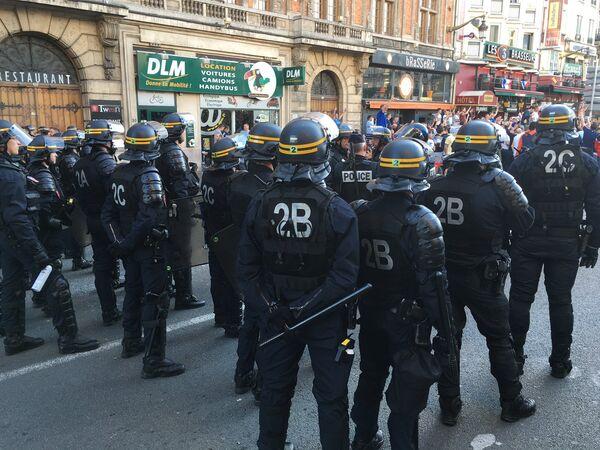 Сотрудники французской полиции в Лилле