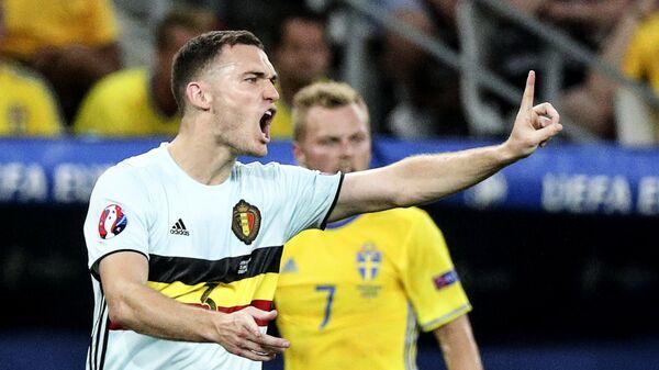 Игрок сборной Бельгии Томас Вермален