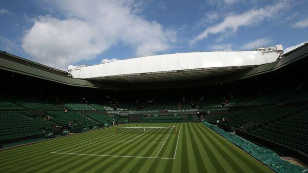 Вид на корт Уимблдонского теннисного турнира