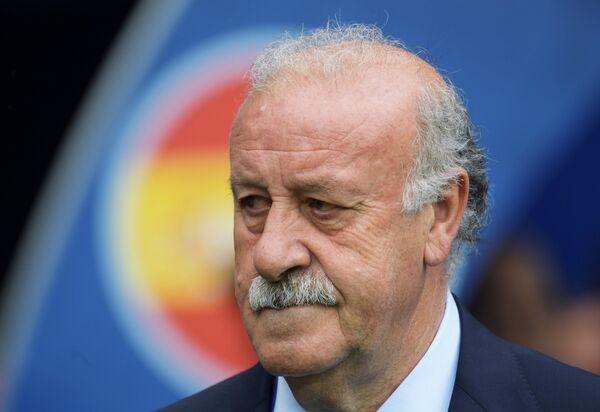 Главный тренер сборной Испании Висенте дель Боске