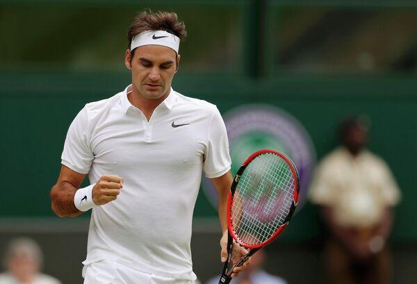 Роджер Федерер на Уимблдонском теннисном турнире