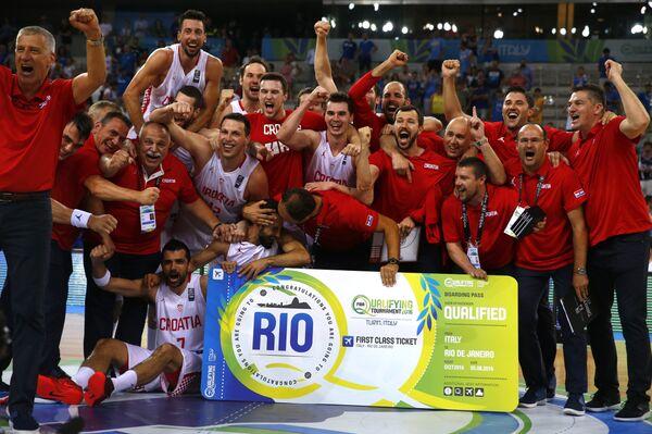 Баскетболисты сборной Хорватии