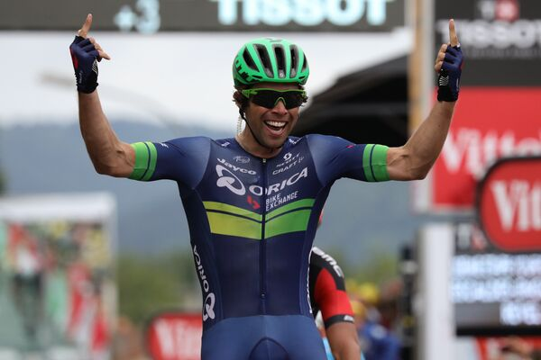 Австралийский велогонщик Майкл Мэттьюс из команды Orica-BikeExchange