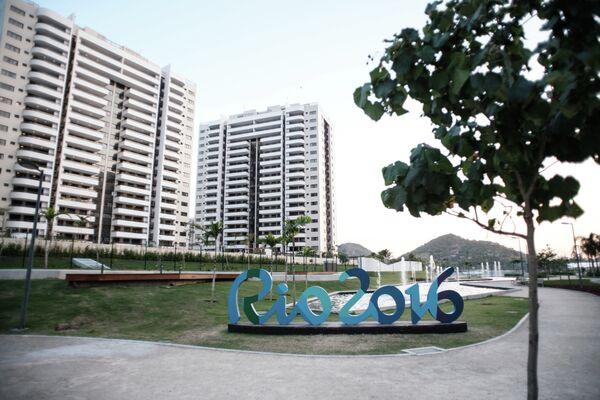 Вид на Олимпийскую деревню в Рио-де-Жанейро
